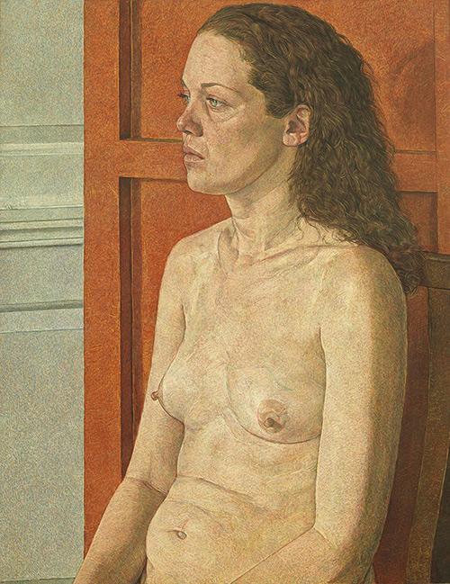 Antony Williams - Eli in Profile [Messum's Art Gallery, London - Tempera on panel, 105 x 81 cm]